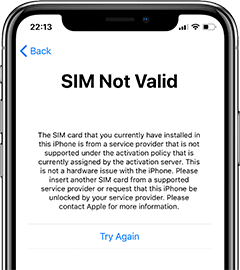 sim-not-valid