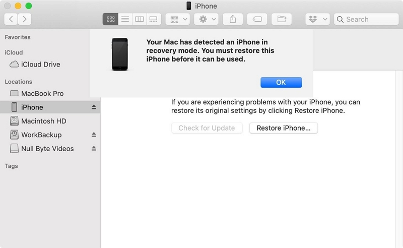 Restore iPhone in DFU Mode