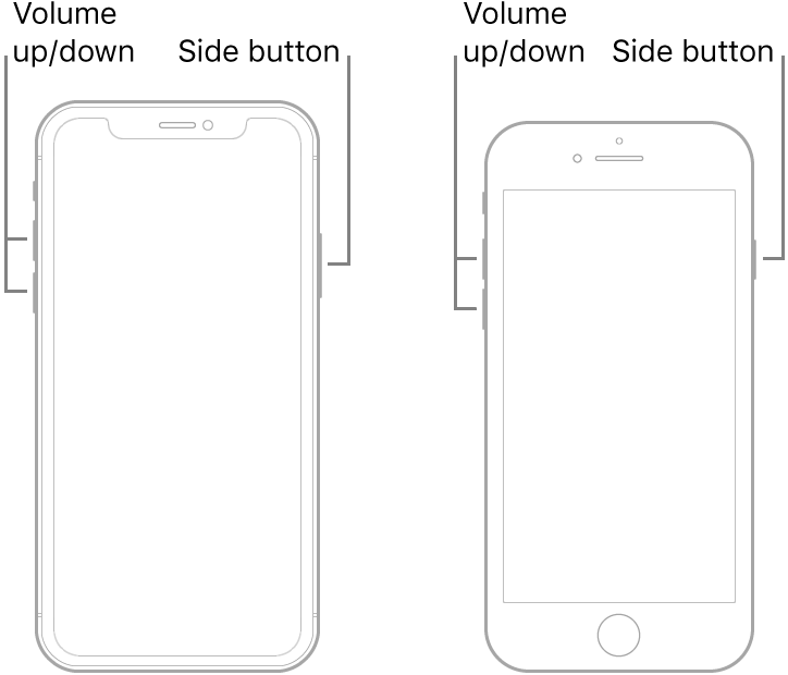 hard reset iPhone 8, iPhone X and Higher