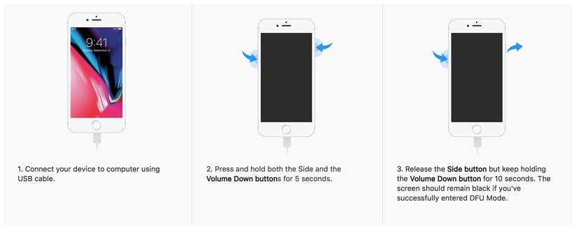 Put iPhone 7 in DFU Mode