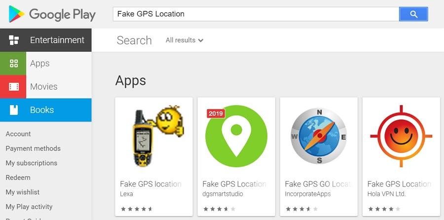 Install the Fake GPS Free