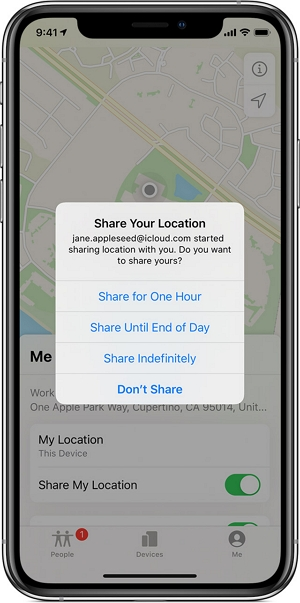Stop Sharing Your Location from Find My App
