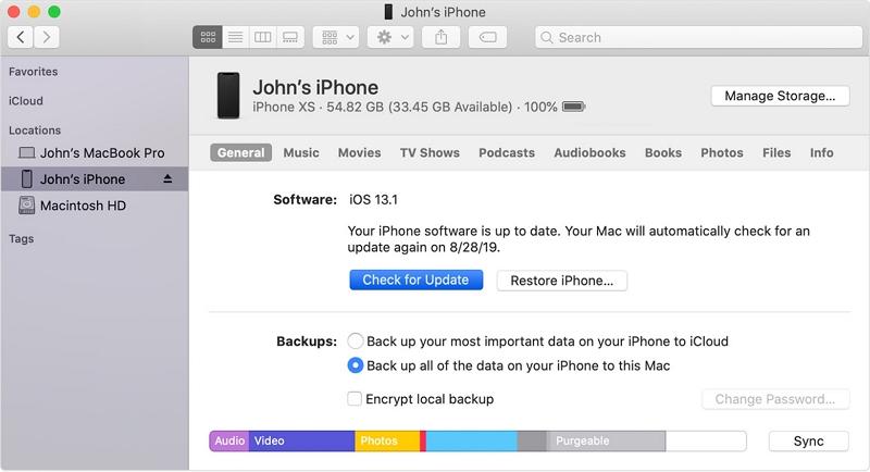 install the update via iTunes