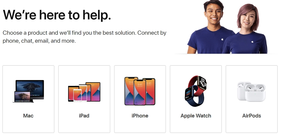 Visit Apple Support Page