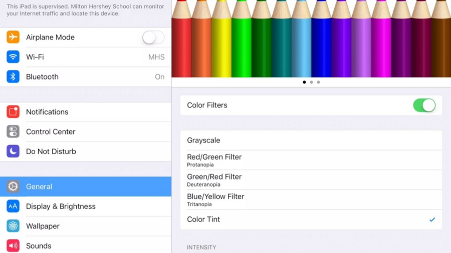 Turn Off Color Filters