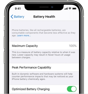 check the Battery Health