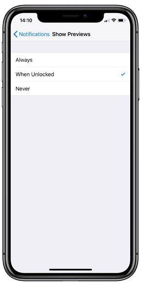 Only use the notifications you need