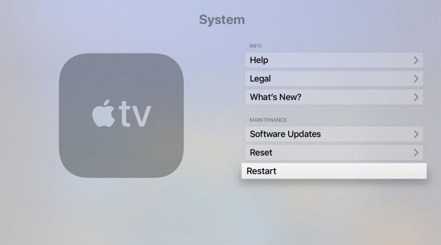 Restart Your Apple TV