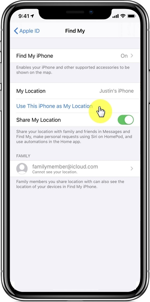 Use Another Device to Share Location