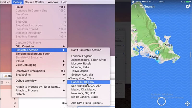 Use Xcode to Change the Location on your iPhone
