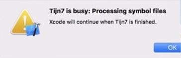 Wait while the program processes